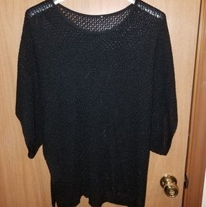 Black Short Sleeve Sweater